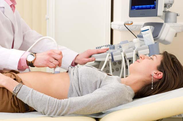 Во время уз-исследования желудка