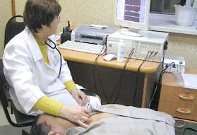 УЗ-исследование мозга в кабинете диагностики